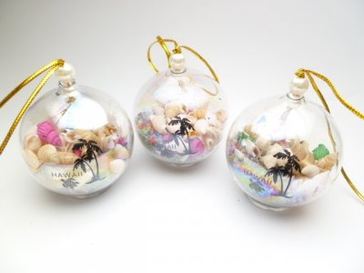 Assorted Seashell Ball Ornaments