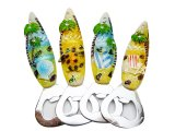 "Assorted Surf board Opener ""Hawaii"" Magnet w/ Palm Tree"