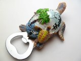 "4.25"" Turtle w/ Palm Tree Opener Magnet"