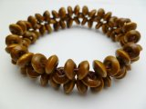 Brown Memory Wood Elastic Bracelet