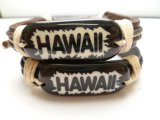"Genuine Leather HAWAII"" ID Bracelet"