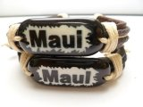 "Genuine Leather ""MAUI"" ID Bracelet"