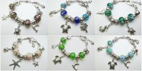 Assorted Color Charm Bracelet Assort