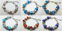 "Assorted Hawaii Sea Life Charm Bracelet 7.5"" w/ Lobster Clasp"