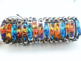 Assorted Wood Surfboard Pendant Leather Bracelet