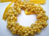 Yellow Mongo Shell Stretchy Bracelet