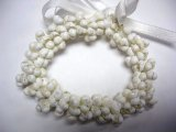 White Mongo Shell Stretchy Bracelet