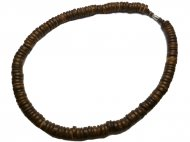 "10mm Large Coconut Beads 18"" Necklace / Chocker"