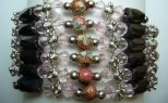 Multi-Task Magnetic Necklace/Bracelets w/ Pink & Cloisonne Beads