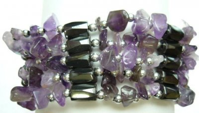 Multi-Task Magnetic Necklace/ Bracelets with Amethyst Stone