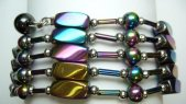 Multi-Task Magnetic Necklace/Bracelets w/ Rainbow Color Hematite