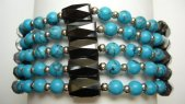 Multi-Task Magnetic Necklace/ Bracelets with Turquoise Beads