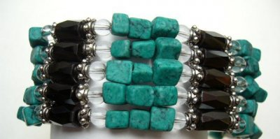 Multi-Task Magnetic Necklace/ Bracelets with Turquoise Stone