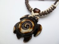 Buffalo Bone Powder Turtle w/ Adjustable Cord