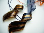 Handcrafted Glass with Ribbon Necklace