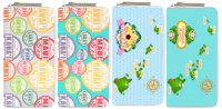 Assorted Hawaii Islands Map & Names Printed Wallet