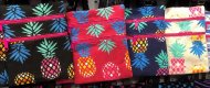 Medium Assorted Pineapple Print Hawaiian Style Cross Body Bag