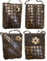 Assorted Coconut Crossbody Bag Purses w/ Zipper