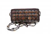 Rectangular Coconut Crossbody Bag Purses w/ Zipper