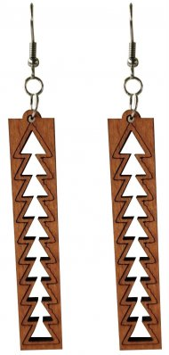 Hawaiian Wood Mauka Earring
