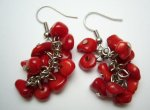 Red Coral with 18KGP Earring Hook