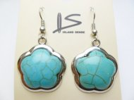 Flower Shape Turquoise Dangling Earring