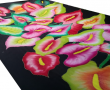 Hand Painted Tropical Flowers Sarong