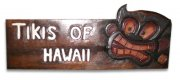 """Tikis of Hawaii"" Wooden Sign"