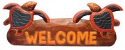 """Welcome"" w/ Turtle Wooded Sign"