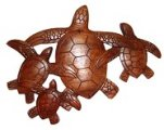 Turtle Family of 4 Wood Carving / Sign
