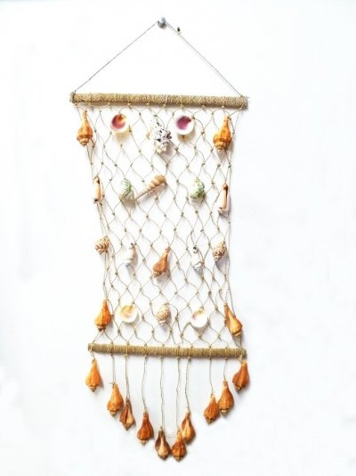 "18"" Assorted Shell On Net Wind Chime"