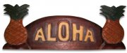 """Aloha"" w/ Pineapple Wooden Sign"