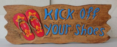 """Kick off Your Shoes"" w/ Red Sliper 16"""