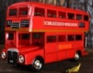 Vintage Red Classic London Double Decker Bus Model