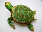 "6"" Crystal Turtle Jewelry Box"