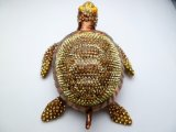 "6.5"" Crystal Turtle Jewelry Box"