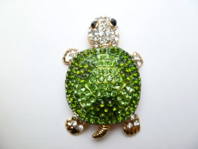 "2"" Green Crystal Turtle"