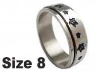 (Size 8) Turtle Stainless Steel Spin Spinner Ring