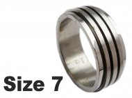 (Size 7) Stainless Steel Spin Spinner Ring