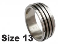 (Size 13) Stainless Steel Spin Spinner Ring
