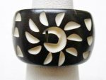 12-Black Buffalo Bone Ring