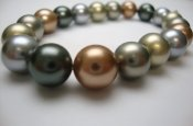 10mm Multi-1 Simulated MOP Shell Pearl Stretchy Bracelet