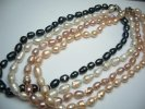 Genuine 9-10mm Rice Shape Fresh Water Pearl Necklace 18""