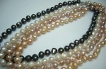 9-10mm Genuine Round Fresh Water Pearl Necklace w/ Lobster Clasp