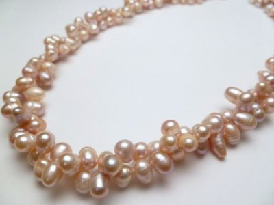 Lavender Double Twist Fresh Water Pearl Necklace 18""