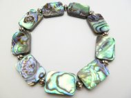 18x13mm Abalone Rectangle Shape Bracelet