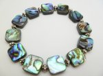 12x12mm Abalone Square Shape Bracelet