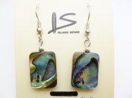 18x13mm Abalone Rectangle Shape Earring