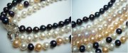 7-8mm Genuine Round Fresh Water Pearl Necklace 18""