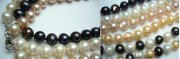 9-10mm Genuine Round Fresh Water Pearl Necklace 18""